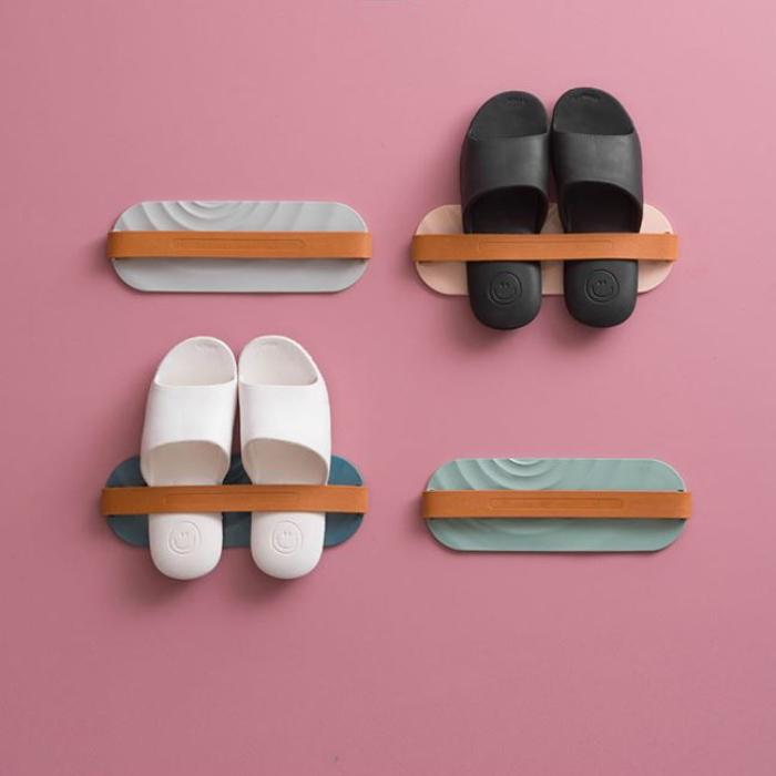 北歐風壁掛式拖鞋架
