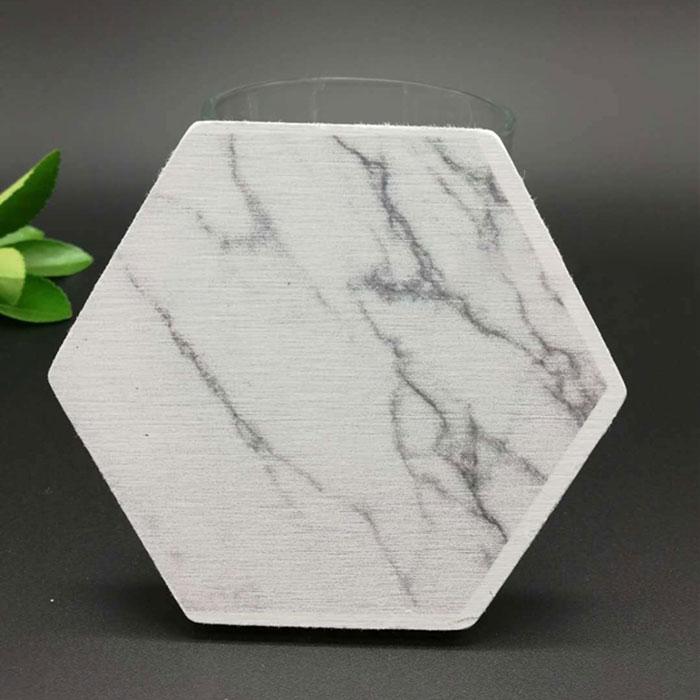 大理石紋硅藻土杯墊