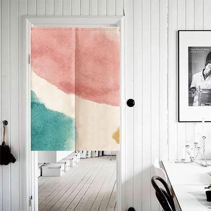 復古渲染浪漫水彩門簾
