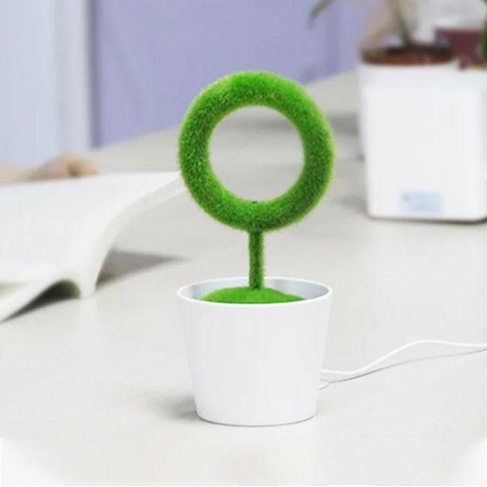 桌面綠植空氣清淨機
