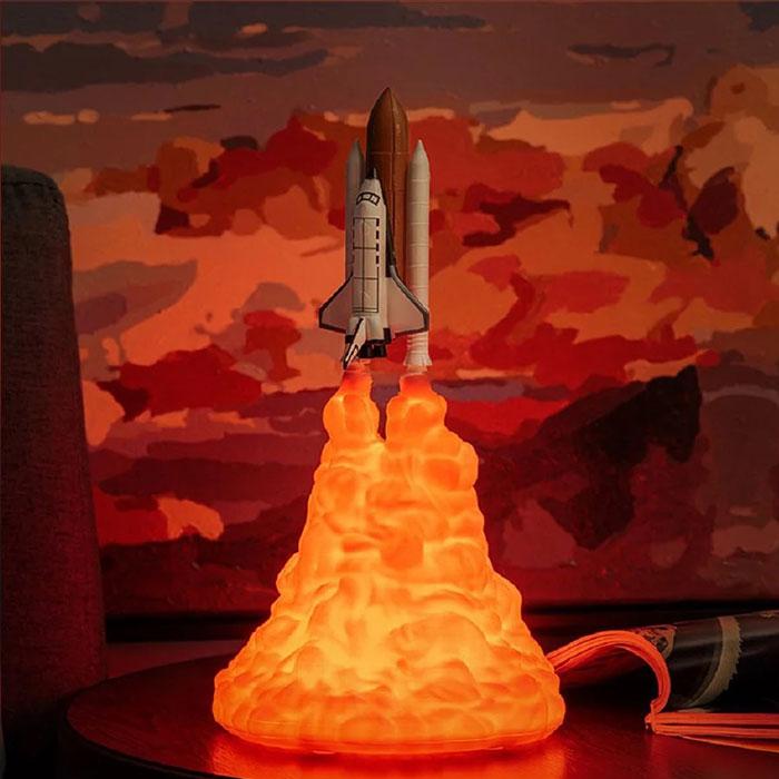 飛向宇宙3D火箭燈