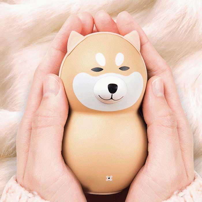 會害羞的狗狗暖手行動充