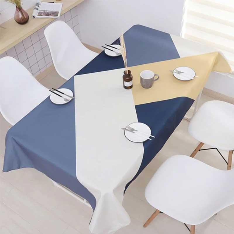 母親節禮物推薦 簡約優雅幾何防水桌布
