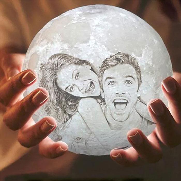 客製化|照片訂製月球燈