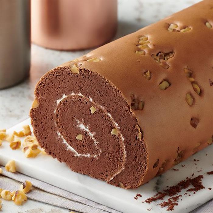 富士巧克力卷心蛋糕