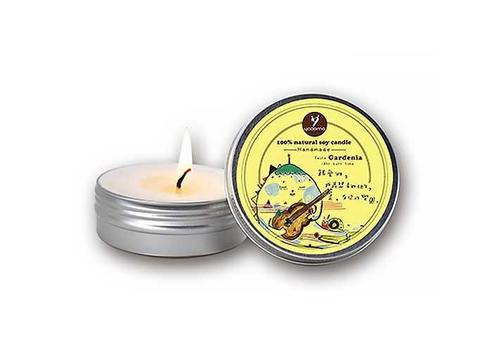 100%天然手作香氛大豆蠟燭-梔子花