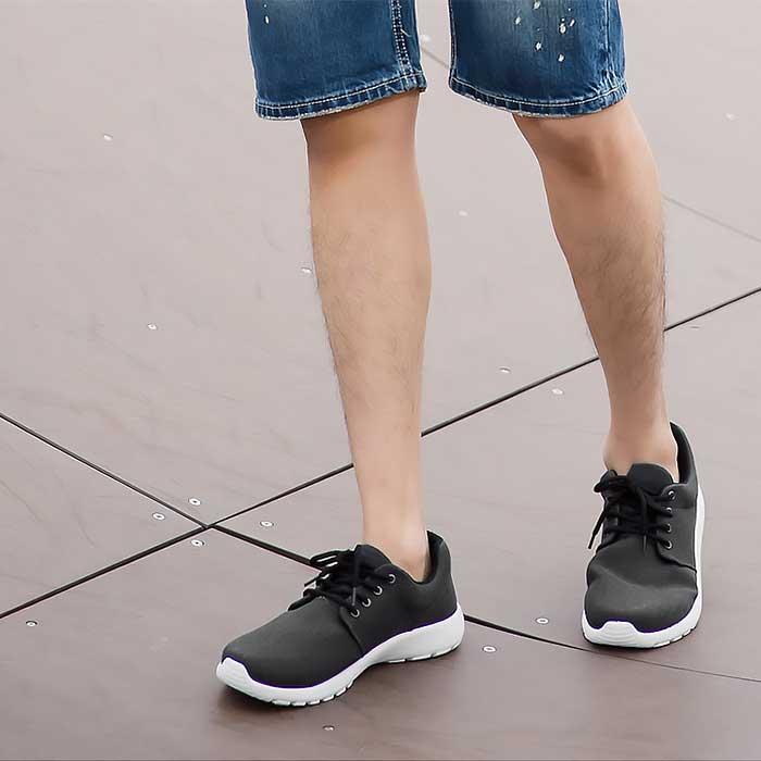 台灣製造~素色水洗布百搭休閒運動鞋