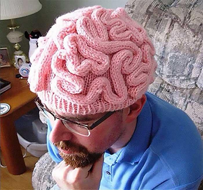 創意惡搞大腦帽
