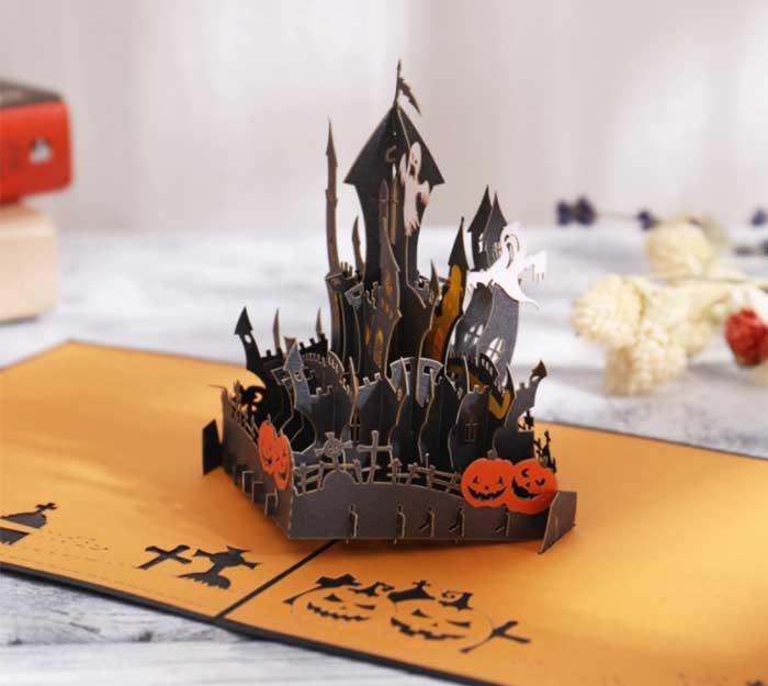 手作360度全立體卡片暗黑黑城堡