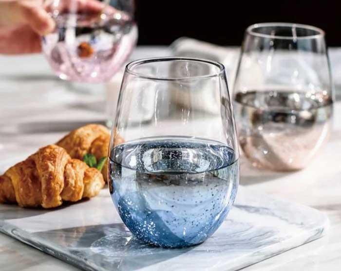 星空蛋形玻璃杯