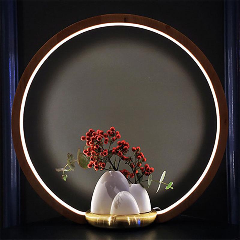 Ethne-一抹光景-胡桃木LED檯燈