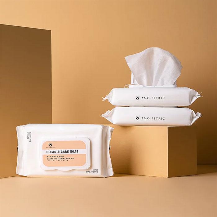 荷荷巴油寵物護理濕巾