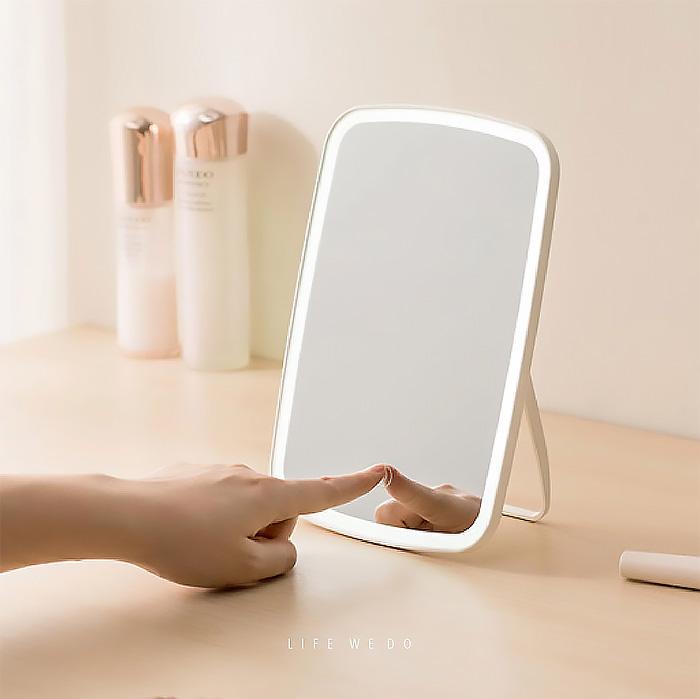 實用禮物 LED台式觸控化妝鏡
