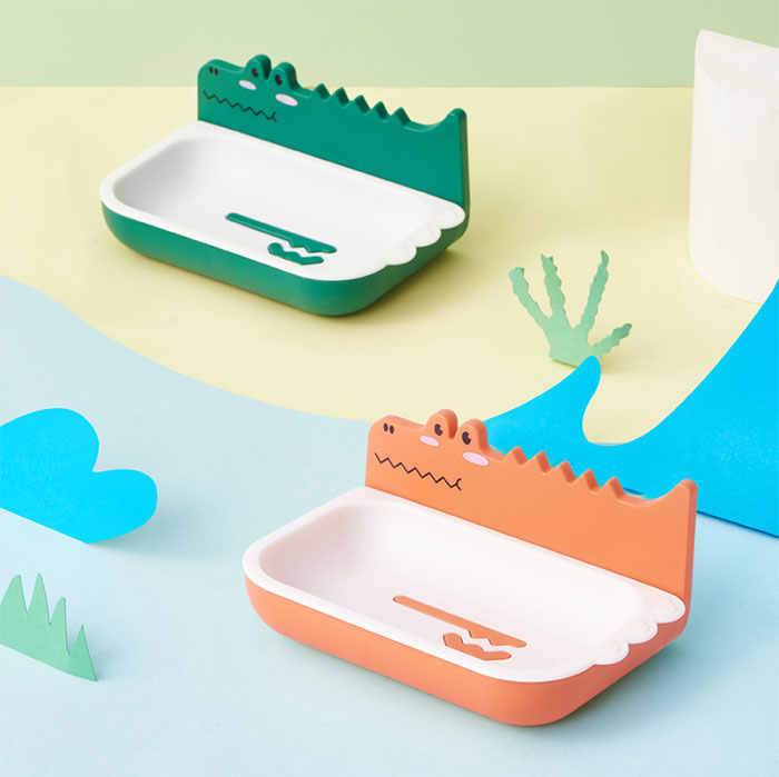 實用禮物 懶洋洋鱷魚壁掛肥皂盒