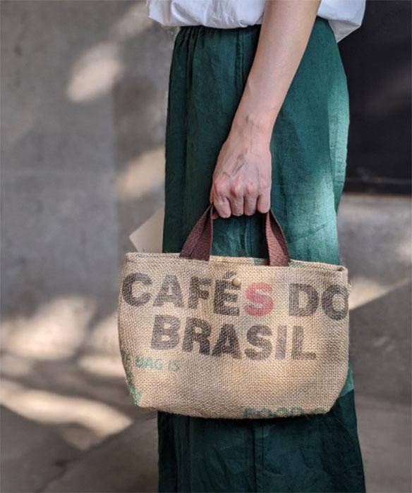 極簡禮物 再生咖啡麻布袋環保托特包手提包